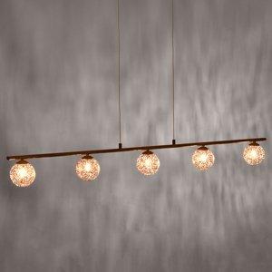 Paul Neuhaus Závesná lampa Greta s dlhým tvarom, 5-pl.
