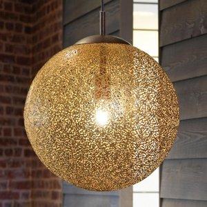 Paul Neuhaus Závesná lampa Greta s guľatým tienidlom 40cm