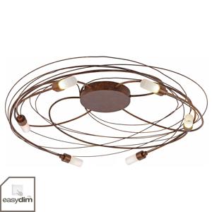 Paul Neuhaus Stropné svietidlo Nelia s LED 6-pl. Ø 60cm hrdza