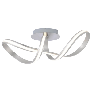 Paul Neuhaus Stropné LED svietidlo Melinda 30W, oceľovosivé