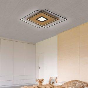 Q-SMART-HOME Paul Neuhaus Q-AMIRA stropné LED drevený dekór
