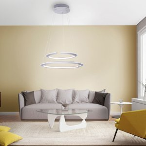 Paul Neuhaus Závesné LED Alessa s dvomi LED krúžkami