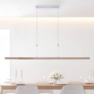 Paul Neuhaus Závesné LED svietidlo Adriana, CCT, drevený dekór