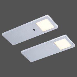 Paul Neuhaus Podhľadové LED Amon, súprava 2 kusov, hranaté