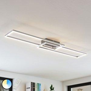 Lampenwelt.com Stropné LED svietidlo Quadra stmievateľné 2pl 110