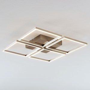 Lampenwelt.com Stropné LED svietidlo Quadra stmievateľné 4pl 52,5