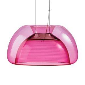 QisDesign Farebné závesné LED svietidlo Aurelia, ružové