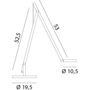 Rotaliana Rotaliana String T1 DTW stolná lampa LED, biela