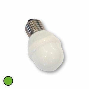 Rotpfeil E27 žiarovka golfová loptička 1W 5,5 VA zelená