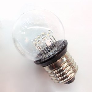 Rotpfeil E27 0,85W LED žiarovka Deco Golf Ball 2, číra