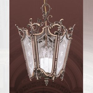 RIPERLamP Závesná lampa PILAR v tvare lucerny