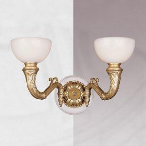 RIPERLamP Nástenné svietidlo Imperial so sklenenými kalichmi