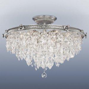 RIPERLamP Žiarivé odsadené stropné svietidlo Samara krištáľ