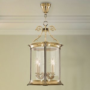 RIPERLamP Závesná lampa Pavel, 4-plameňová, zlatá lesklá