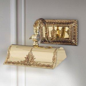 RIPERLamP Obrazové svetlo Capitel zlatá patina leštená 20cm