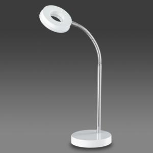 Reality Leuchten Žiarivo biela stolná LED lampa Rennes