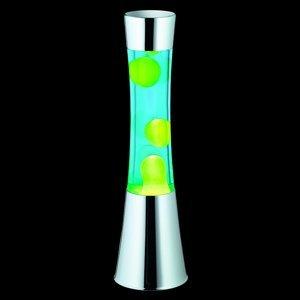 Reality Leuchten Lávová lampa Jarva chróm, láva zelená