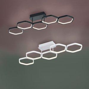 Reality Leuchten Stropné LED svietidlo Vigo, biele, stmievateľné