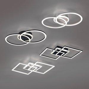 Reality Leuchten Stropné LED svietidlo Venida čierne, stmievateľné