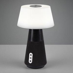 Reality Leuchten Stolná LED lampa DJ s reproduktorom, biela/čierna