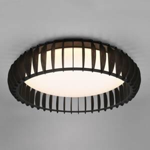 Reality Leuchten Stropné LED svietidlo Monte, CCT, Ø 60cm, čierna