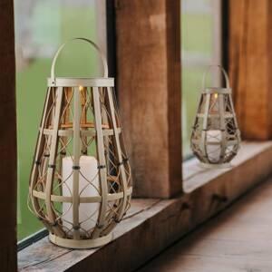 Reality Leuchten Solárna stolná LED lampa Vinto, béžová 44,5cm