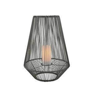 Reality Leuchten Solárna stolná LED lampa Mineros, sivá, 51 cm