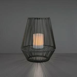 Reality Leuchten Solárna stolná LED lampa Mineros, sivá, 30,5 cm