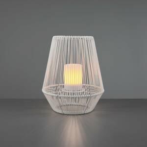 Reality Leuchten Solárna stolná LED lampa Mineros, biela, 30,5cm