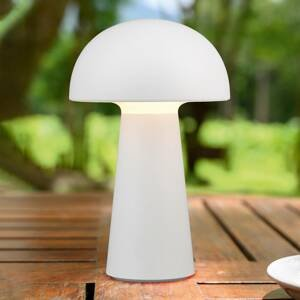 Reality Leuchten Stolná LED lampa Lennon s batériou, biela