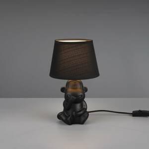 Reality Leuchten Stolná lampa Chita z keramiky, čierna