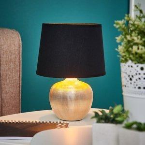 Lindby Čierno-zlatá stolná lampa Thorina