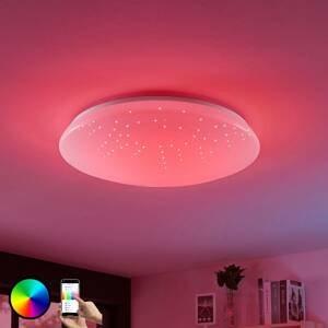 Lucande Stropné LED svietidlo Jelka WiZ RGBW okrúhle