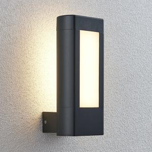 Lampenwelt.com Vonkajšie nástenné LED svietidlo Mhairi hranaté