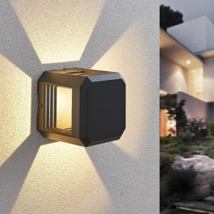 Lampenwelt.com Vonkajšie nástenné LED svietidlo Fery antracit