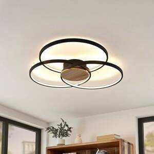 Lindby Lindby Riley stropné LED, stmievateľné, čierne