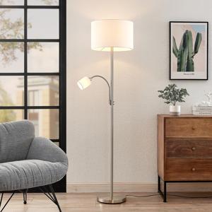 Lindby Lindby Jaileen látková stojaca lampa čítanie biela