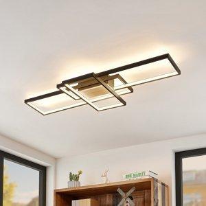 Lindby Lindby Emiljan stropné LED svietidlo, čierne matné