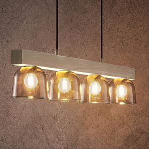 Lindby Lindby Watan závesná lampa, sivé sklá