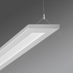 Regiolux Kancelárske závesné LED Stail mikroprizma biela Al