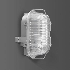 BEGA RZB Alu-Standard nástenné svetlo E27 oválne, IP44