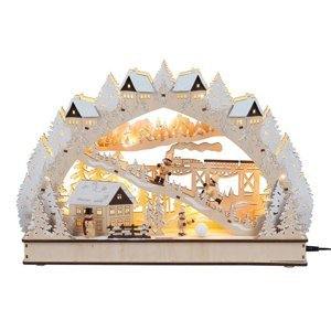 Saico Visutý oblúk Zimná romantika LED batérie a trafo