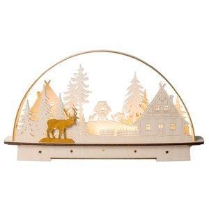 Saico Svetelný LED oblúk Lesný domček, s batériou
