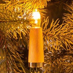 Saico Svetelná reťaz Ryhované sviečky 20-pl., svetlý buk