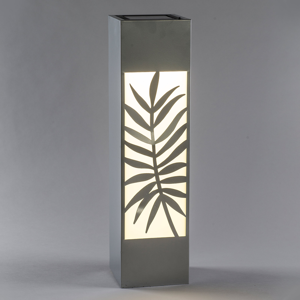 Saico Solárna LED lampa Stĺpik, oceľ, motív papradie
