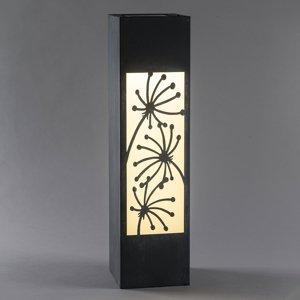 Saico Solárna LED lampa Stĺpik, vzhľad betón, motív kvet