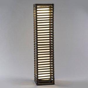 Saico Solárna LED lampa Stĺpik ratan, hranatá