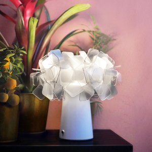 Slamp Slamp Clizia stolná LED lampa, batéria, fumé