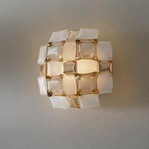 Slamp Slamp Mida nástenné svietidlo 32x32cm zlatá/biela