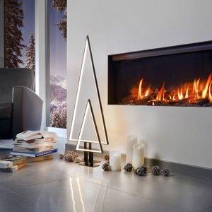 Sompex LED dekoratívne svetlo borovica čierna 100 cm